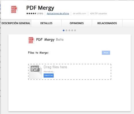 PDF Mergy | Infografía. Google Chrome y sus extensiones en la Educación | Scoop.it