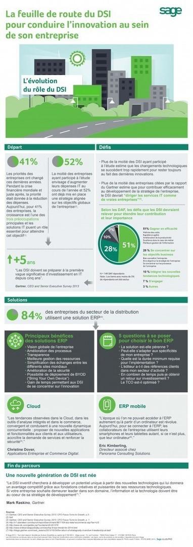 L'évolution du métier de DSI en une infographie vue par Sage | La veille en ligne d'Open-DSI | Scoop.it