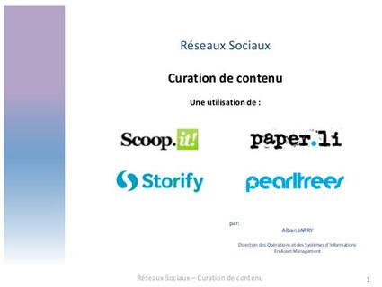 Comparaison des outils de Curation de contenu : Scoop.it, Storify, Paper.li, Pearltrees — La Chaine Web | Curating ... What for ?! Marketing de contenu et communication inspirée | Scoop.it