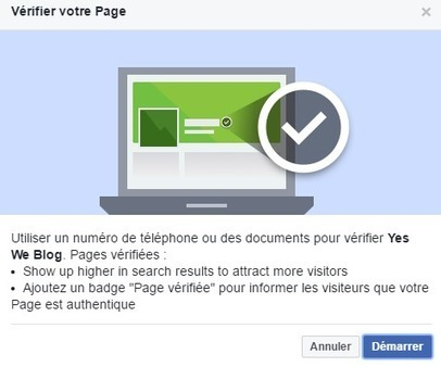 Comment Demander la Vérification d'une Page Facebook ? - Yes We Blog ! | Geeks | Scoop.it