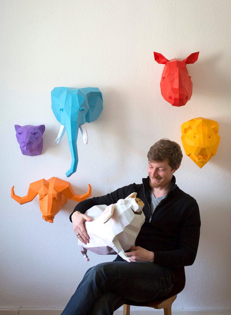 DIY Geometric Paper Animal Sculptures by Paperwolf | Connected Learning | Scoop.it