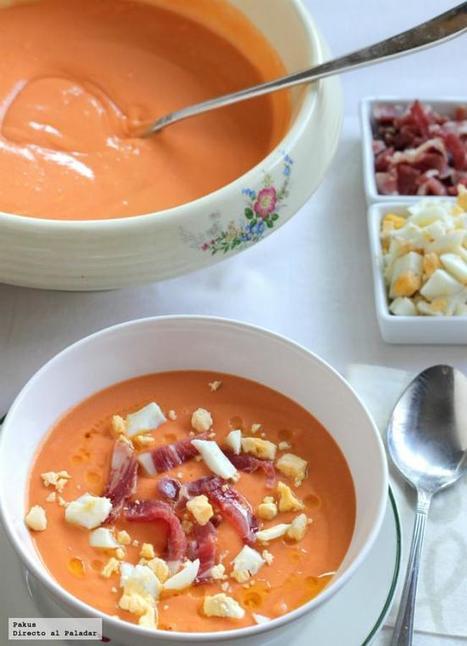 Receta de salmorejo cordobés tradicional   Mis recetas favoritas   Scoop.it