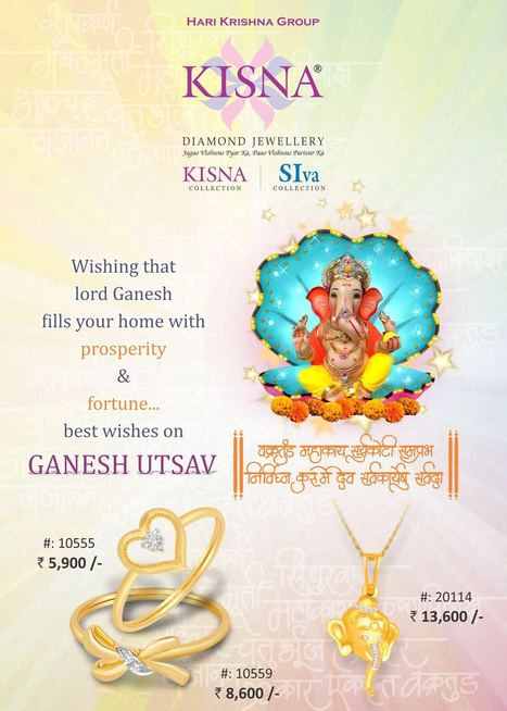 Wishing you that Lord Ganesha fills your Life with Prosperity & Fortune!Happy Ganesh Utsav! | Latest Indian Diamond Jewellery Designs | Scoop.it