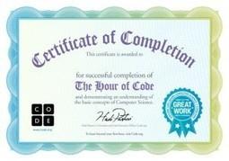 Δοκίμασε την Ώρα του Κώδικα και πάρε τη Βεβαίωση «The Hour of Code» | Learning Online | Scoop.it