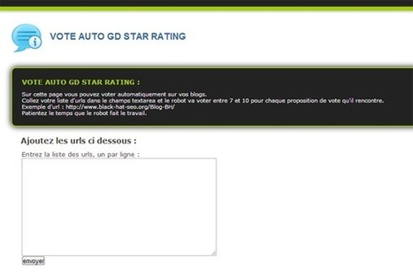 Automatiser le vote sur GD Star Rating Wordpress - Black Hat SEO | Nicolaseo : Consultant Black Hat SEO & E-reputation | Scoop.it
