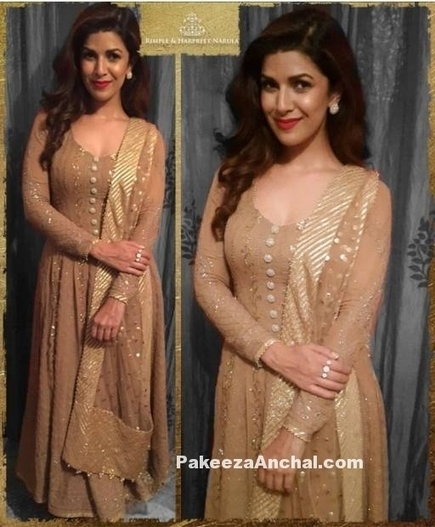 Nimrat Kaur in Rimple Harpreet Narula's Brown Anarkali Dress | Indian Fashion Updates | Scoop.it