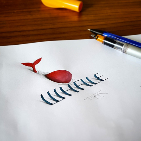 New 3D Calligraphy Exercises by Tolga Girgin | Mance Creative - Graphic and Website Design | Scoop.it