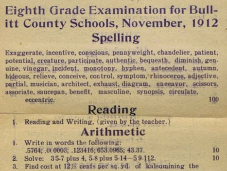 What An 8th Grader From 1912 Was Expected To Know | Math, technology and learning | Scoop.it