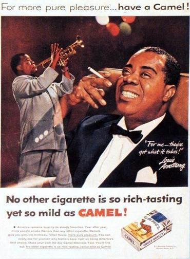 Louis Armstrong, Camel Ad. 1955 | Jazz Plus | Scoop.it