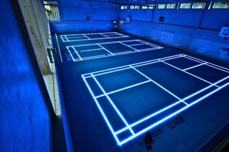 Tron effect - new sports court floor technology allows projection of video and images from underneath flooring - Geek Slop | Brian's Science and Technology | Scoop.it