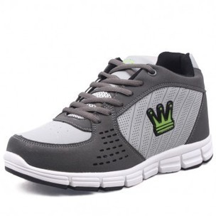 Grey Leather Lace up Sports Height Increasing Elevator Shoes heighten 7cm/2.75inch invisibly on Sale for cheap wholesale at Topoutshoes.com | sneaker elevator shoes for men height increasing sport shoes | Scoop.it