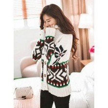 Snowflake Knitted Cardigan | Japanese Fashion | Scoop.it