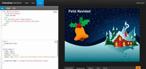 Crea tus propias postales navideñas en HTML de manera sencilla con Codeacademy Code Cards | Lenguaje digital | Scoop.it