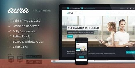 Aura Responsive Multipurpose Template - Download New Themes | web development | Scoop.it