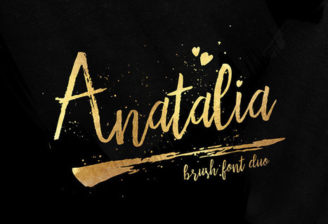 Free Font | Anatalia Brush Duo | Design Freebies & Deals | Scoop.it