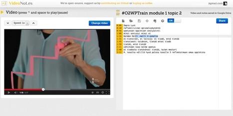 Opeblogi: Videonauhaa ja muistiinpanoja: VideoNot.es | Opettaminen, oppiminen ja TVT | Scoop.it