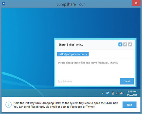 Jumpshare Comes To Windows; Lets You Upload & Share Files, Folders & Screenshots In One Click | Best Free Software | Scoop.it