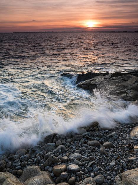 photo en Finistère, Bretagne et...: marée haute, le soir, pointe de Sainte-Marine (8 photos) | photo en Bretagne - Finistère | Scoop.it