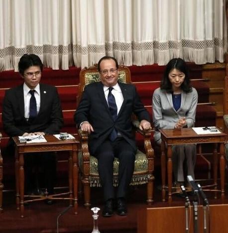 François Hollande confond Chinois et Japonais en pleine conférence officielle à Tokyo ! | Toute l'actus | Scoop.it