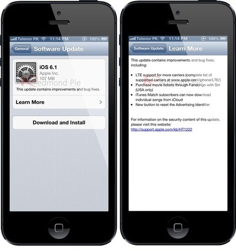 Download iOS 6.1 Final For iPhone, iPad and iPod Touch [Direct Links] | Redmond Pie | Android Discussions | Scoop.it