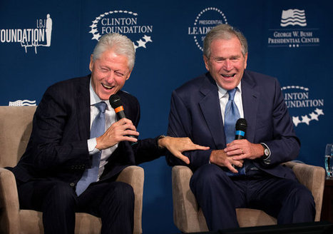 Laughs and Accolades as Clinton and Bush Introduce a Leadership Program | Leadership | Scoop.it