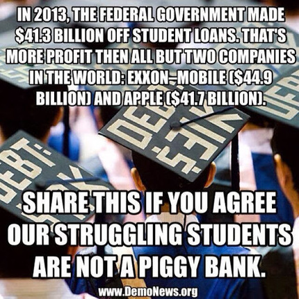 Image: The Federal Government is Profiting from Student Loans | Americans for Political Change | Scoop.it