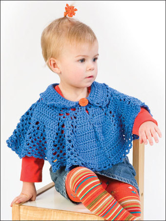 Lil Collar Poncho | Needle and Hook Patterns-all free | Scoop.it