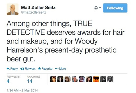 Sample tweet from Matt Zoller Seitz | Review & Criticism on Social Media | Scoop.it
