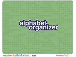 Alphabet Organizer - ReadWriteThink | Technology in Education | Scoop.it