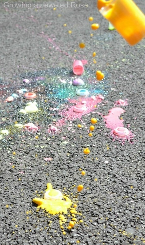 Summer Fun - Chalk Rockets ~ Growing A Jeweled Rose | Integrating Art and Science | Scoop.it