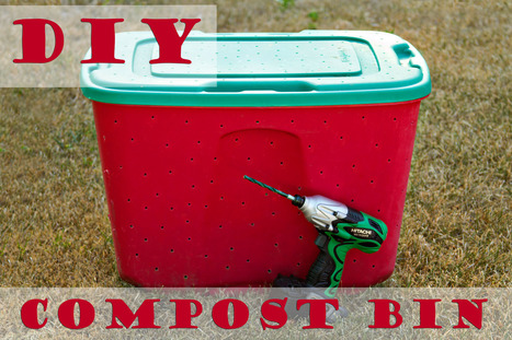 How to make an easy DIY compost bin | Upcycled Garden Style | Scoop.it