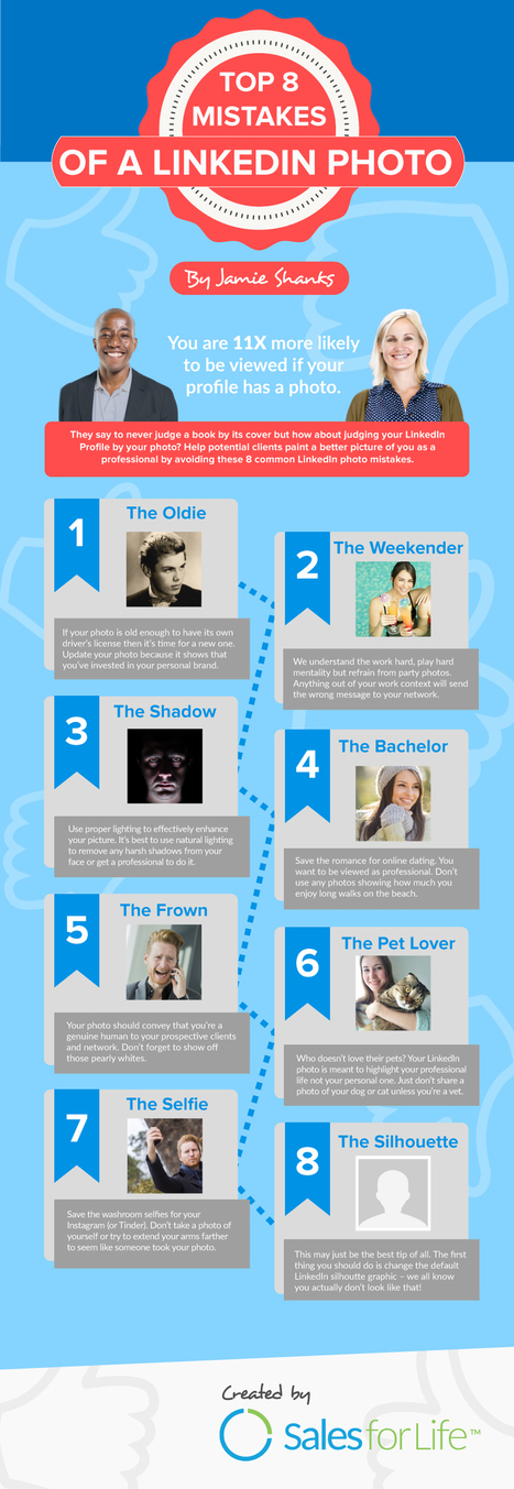 The Top 8 Mistakes of a LinkedIn Profile Photo [INFOGRAPHIC] | LinkedIn | Scoop.it