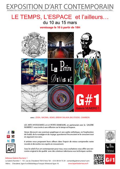 Vernissage expo LE TEMPS, L'ESPACE et l'ailleurs… le 10 mars – Galerie Numéro 1 | Art Exhibition in Paris | Scoop.it