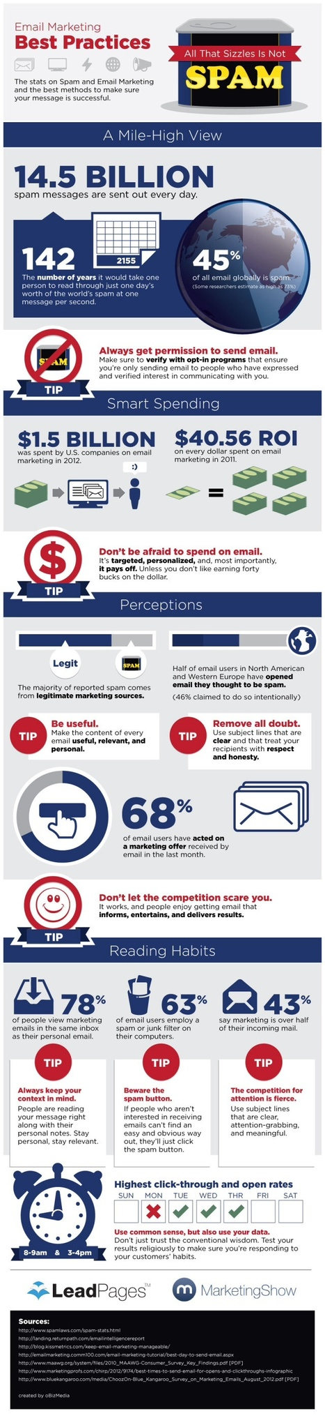 All Email Marketing That Sizzles Is Not Spam #INFOGRAPHIC   MarketingHits   Scoop.it