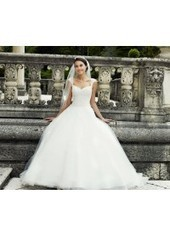 Ball Gown V Neck Court Train Tulle Ivory Wedding Dress H2ly0046 for $1,057 | Landybridal 2014 wedding dress | Scoop.it
