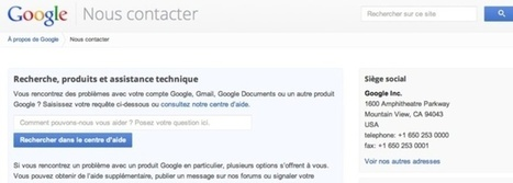 Listing des formulaires pour contacter Google | Time to Learn | Scoop.it