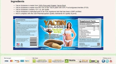 Yacon Molasses Ingredien | Diet With Fruits | Scoop.it