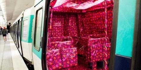 Mais qui a emballé une rame du métro parisien ? | streetmarketing | Scoop.it