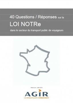 Loi NOTRe - transport public - questions / réponses | Déplacements-mobilités | Scoop.it