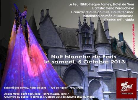 Nuit Blanche de Paris   Facebook   Electric Art - New generation pylons by Elena Paroucheva   Scoop.it