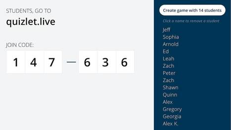 Introducing our first collaborative learning game for the classroom: Quizlet Live | Didattica innovativa, Gamification, Serious Game | Scoop.it
