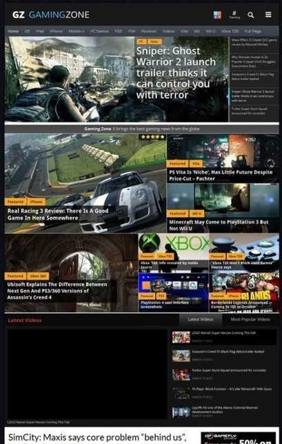 Magazine3 GamingZone WordPress Game Portal Theme REVIEW | Ecozine theme free download | Scoop.it