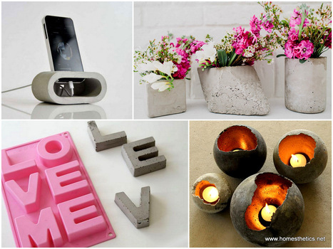 20 Cute Easy Fun DIY Cement Projects for Your Home | Inspired By Design | Scoop.it