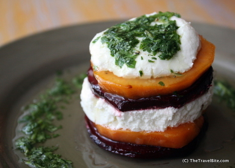 Caramelized Sweet Potato and Goat Cheese Salad | The Travel Bite | Yummie Food | Scoop.it