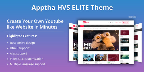 Apptha Breaks Cover of HVS Elite Theme - A Stellar Theme For Video Content Delivery   Wordpress, Magento & Joomla Plugins Download   Scoop.it