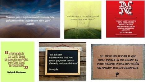 6 Herramientas para crear imágenes con frases sin ser diseñador - Hablando en corto | El blog de María Lázaro | Educacion, ecologia y TIC | Scoop.it