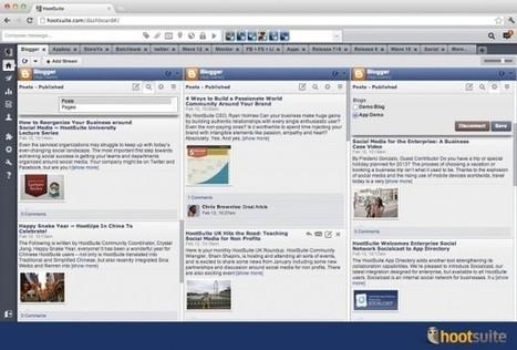 HootSuite anuncia su integración de Blogger, StoreYa, Batchbook y Appboy   Educacion, ecologia y TIC   Scoop.it