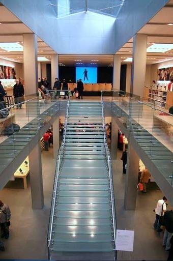 Apple Store - Glass Staircase | Diseño estructural en edificación | Scoop.it