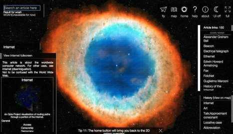 WikiGalaxy par Owen Cornec - #datavisualization #dataviz | Digital #MediaArt(s) Numérique(s) | Scoop.it