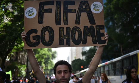 Anti-World Cup protests in Brazilian cities mark countdown to kick-off | The Brazil World Cup | Scoop.it